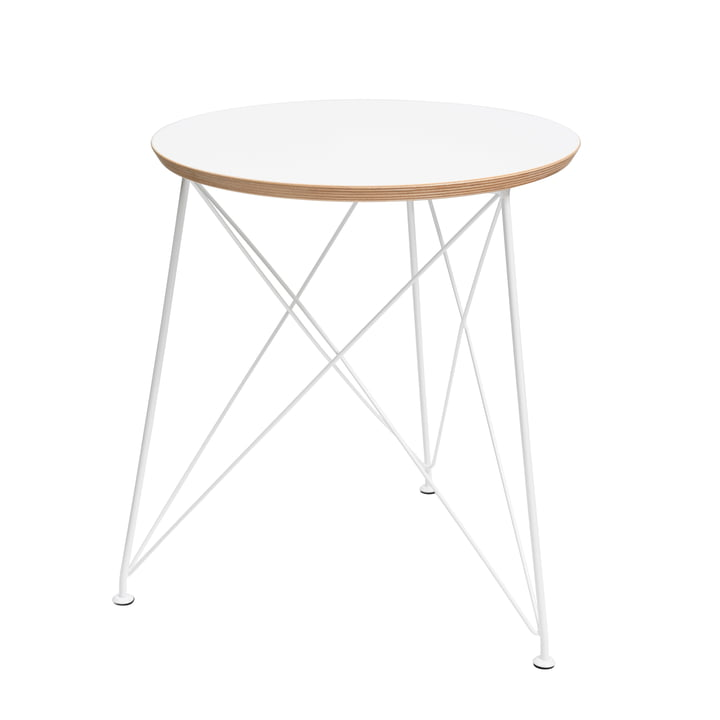 Brace - Round Side Table with Steel Frame