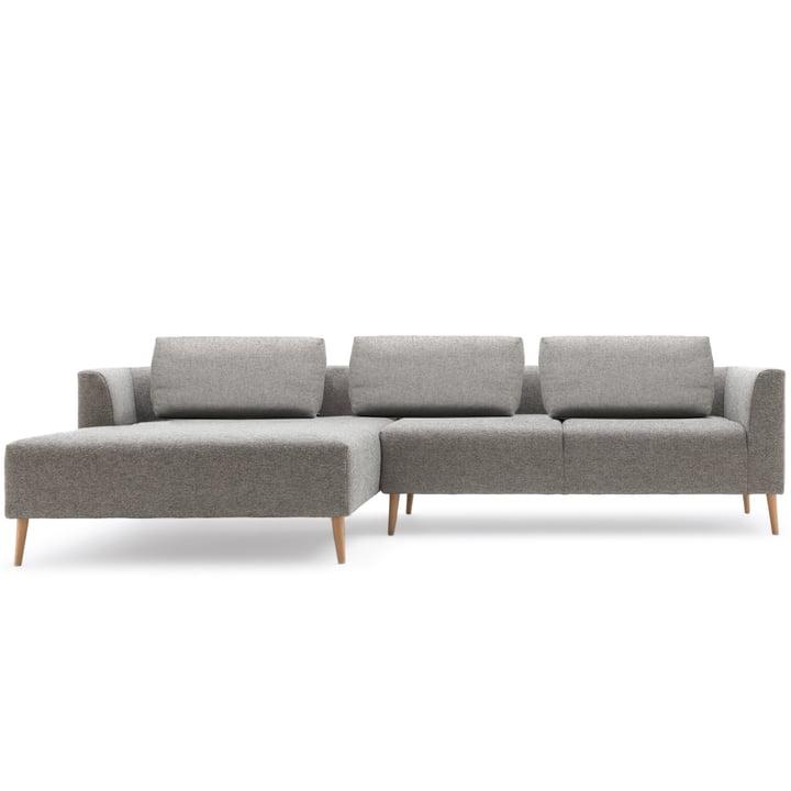 Light grey sofa corner 162 by freistil with Récamier