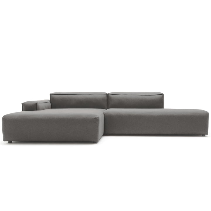 175 Sofa Corner, Left Side Low by Freistil with Cover in Graphite Grey (5246)