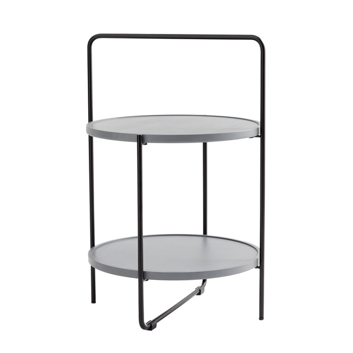 Andersen Furniture - side table Ø 46 cm, black / ash grey lacquered
