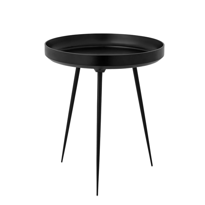 Bowl Table medium Ø 46 x H 52 cm by Mater in Black