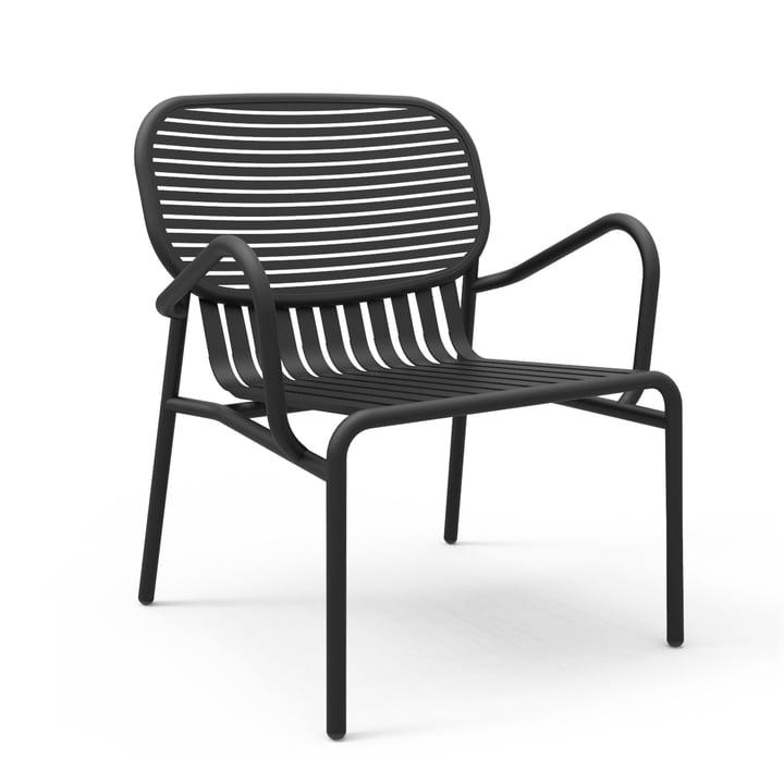Petite Friture - Week-End Outdoor Chair, black (RAL 9005)