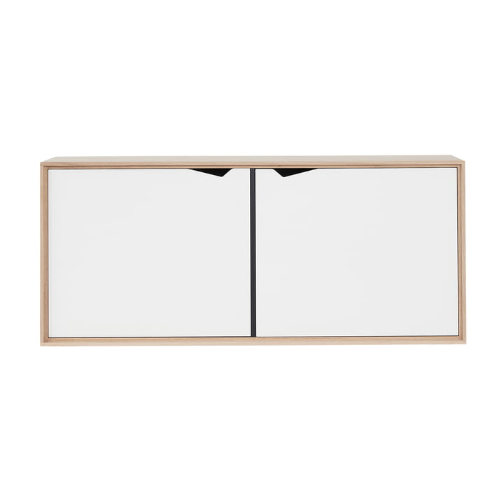 The Andersen Furniture - S2 Hanging Module with 2 Doors, Soaped Oak / White Laminate