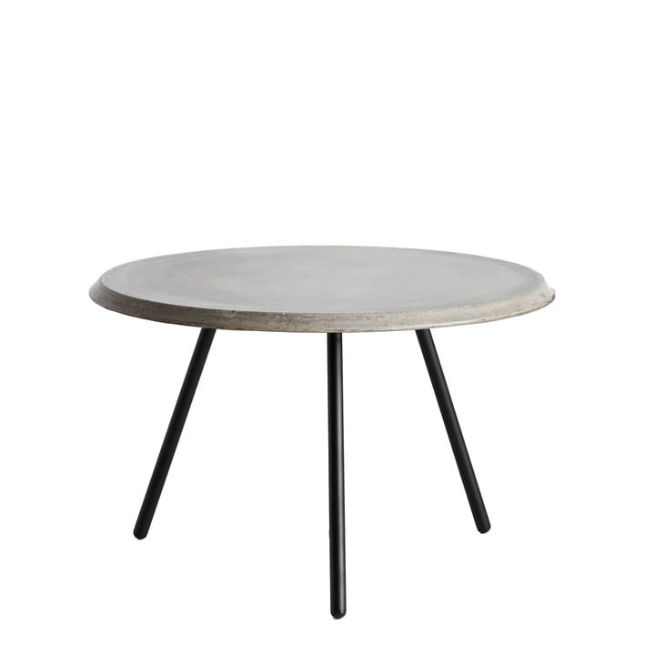 Soround Side Table H 39.5 cm / Ø 60 cm by Woud in Concrete