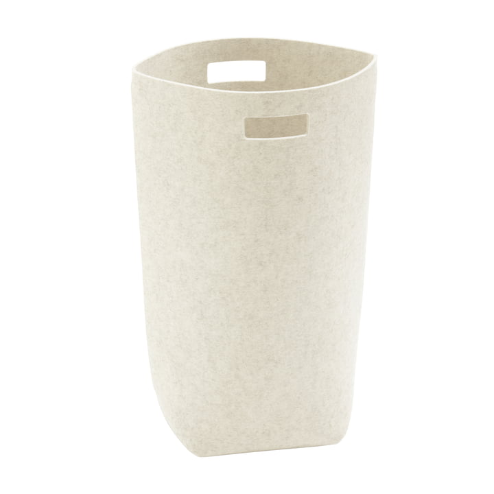 Laundry basket from Hey Sign in wool white