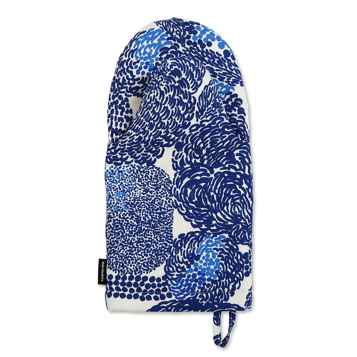 Marimekko - Mynsteri Oven Mitt in Blue / White