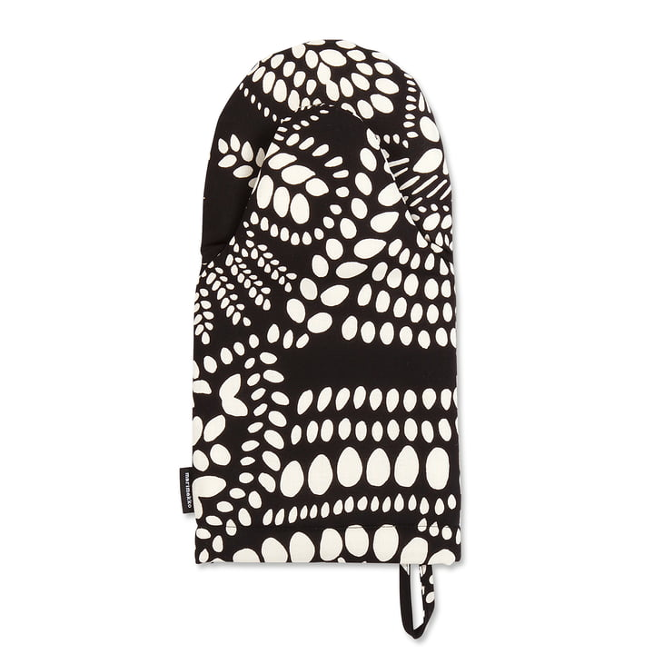The Marimekko - Näsiä Oven Mitt in black / white