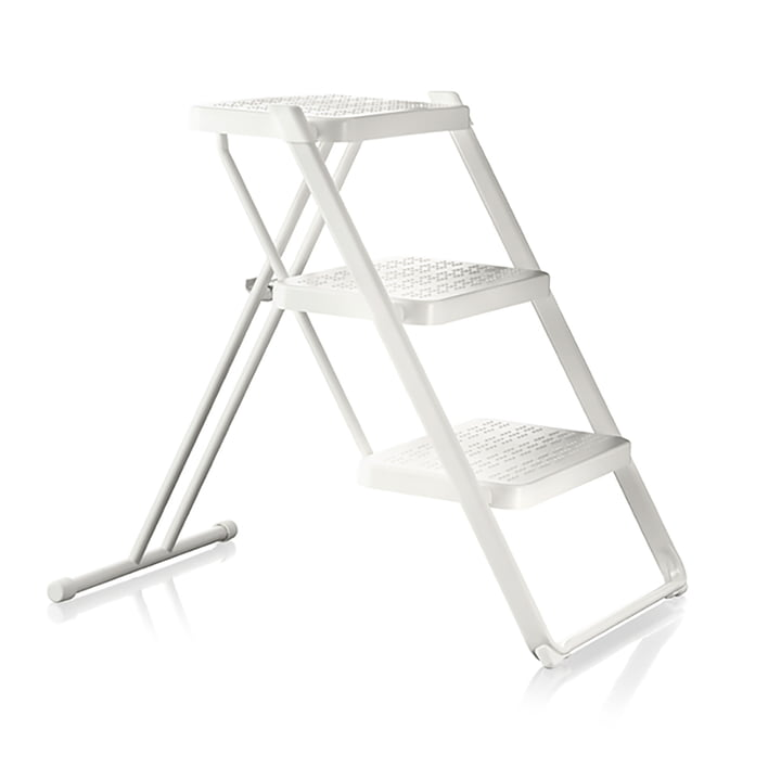 Nuovastep step ladder epoxy coated by Magis in white