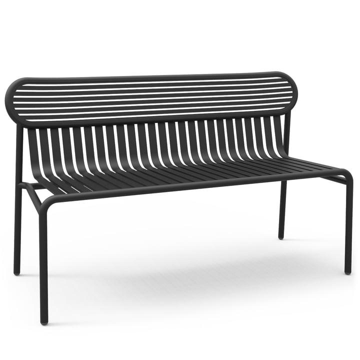 Petite Friture - Week-End Bench, black (RAL 9005)