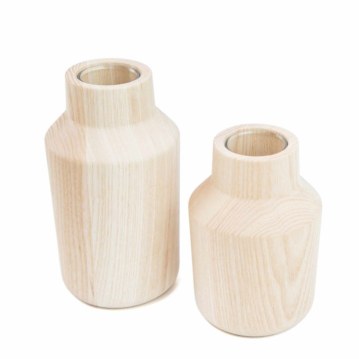 The Kommod - Klava Vase, ash (set of 2)