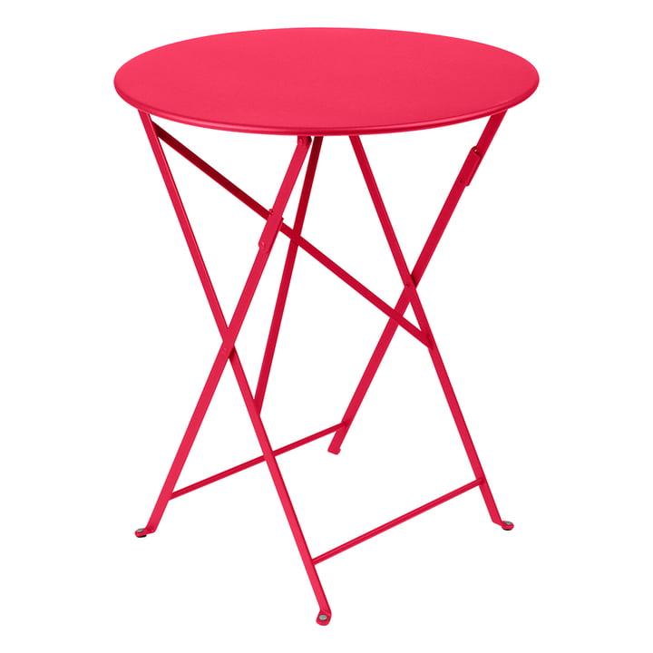 The Fermob - Bistro Folding table Ø 60 cm in rose praline