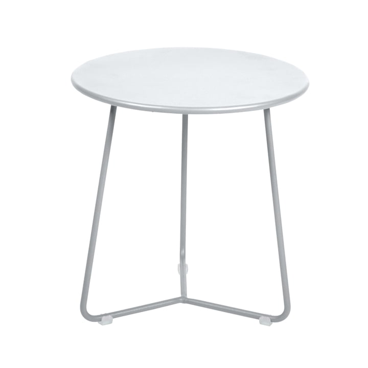 The Fermob - Cocotte Side Table / Stool, Ø 34 cm x H 36 cm in cotton white