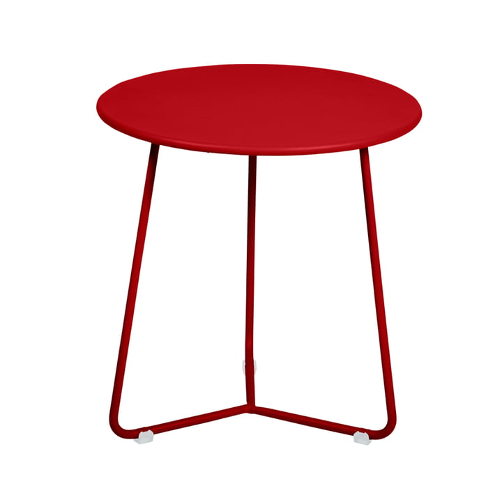 The Fermob - Cocotte Side Table / Stool, Ø 34 cm x H 36 cm in poppy red
