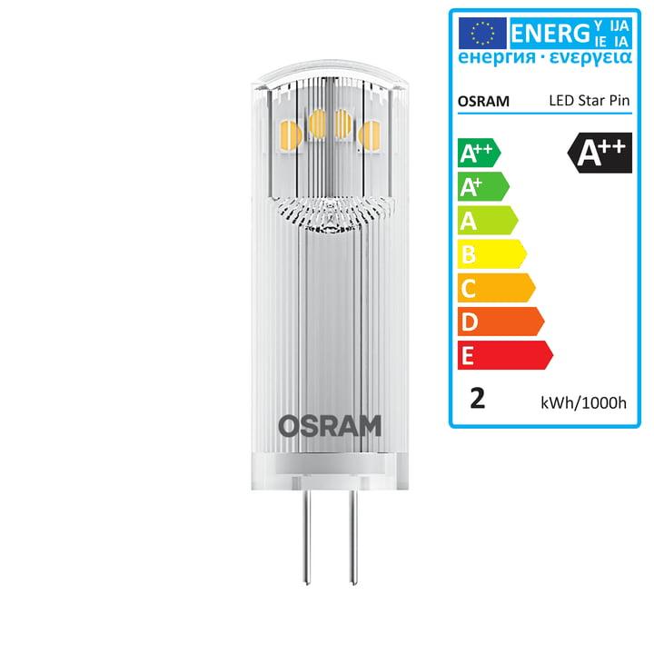 Osram - Star Pin 20 LED Lightbulb, G4 / 12 V, 1.8 W, warm white