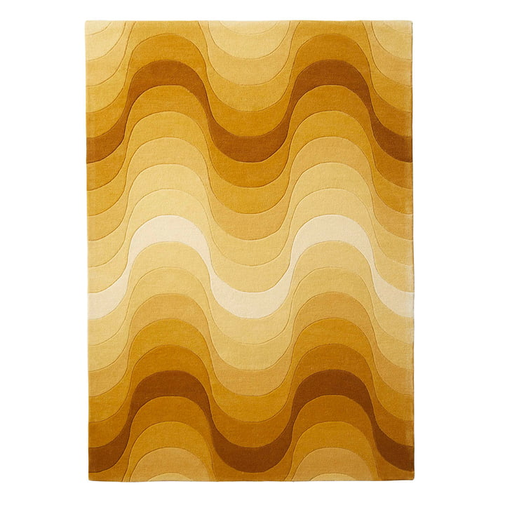The Verpan - Wave Rug, 240 x 170 cm in Yellow