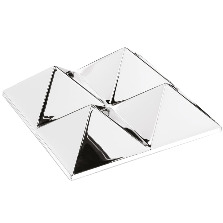 Verpan - Mirror Sculptures, 4 Pyramids, Silver / Mirrored