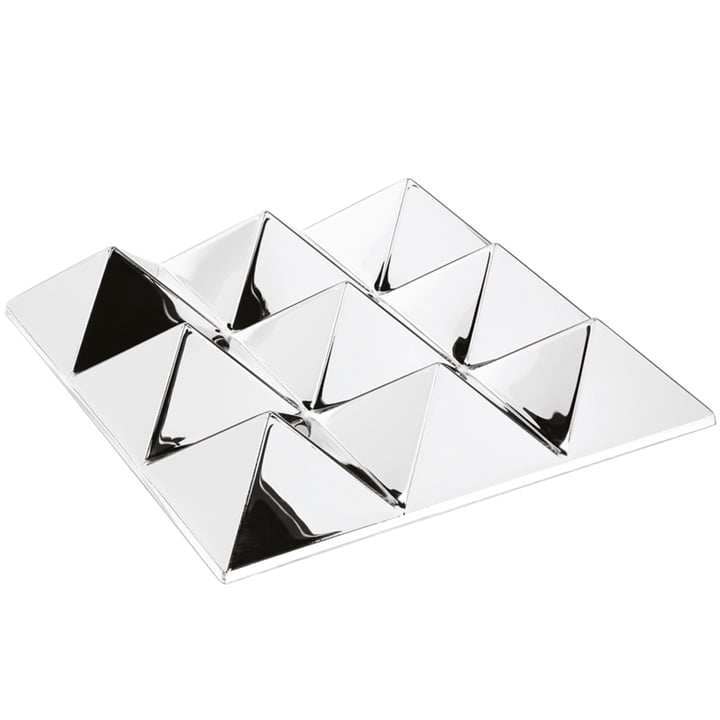 The Verpan - Mirror Sculptures, 9 Pyramids, Silver / Mirrored