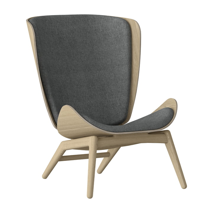 The Reader armchair by Umage in oak nature / slate grey