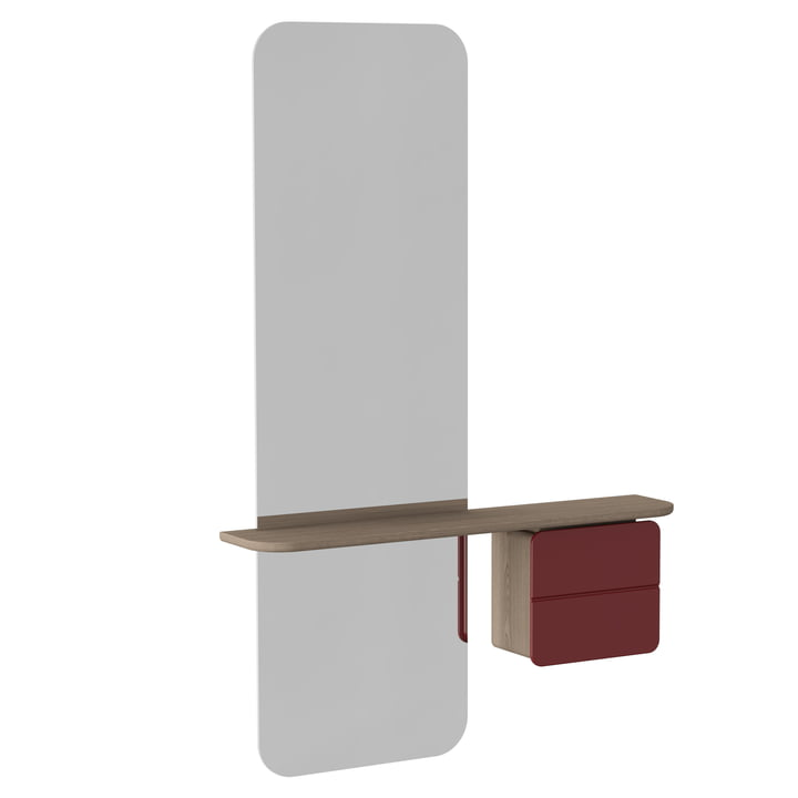 Umage - One More Look Mirror, ruby red