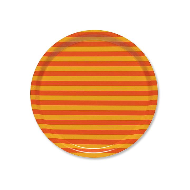 Tasaraita Tray Ø 31 cm by Marimekko in Orange / Yellow
