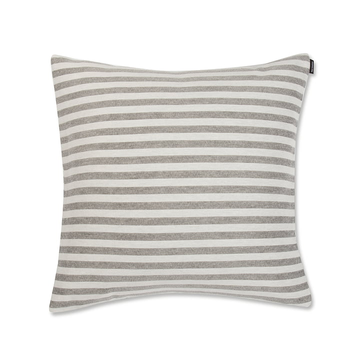 Tasaraita Cushion Cover 50 x 50 cm by Marimekko in Grey / White