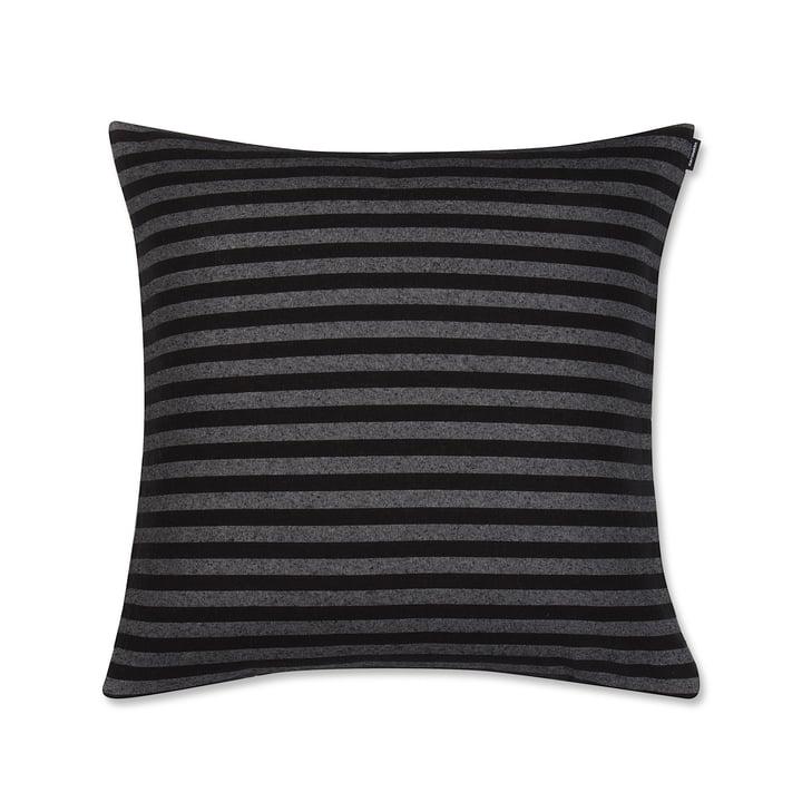 Tasaraita Cushion Cover 50 x 50 cm by Marimekko in Black / Grey