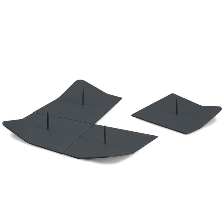 Northern - Drift candleholders, dark grey (set of 4)