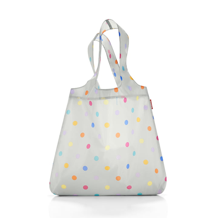 mini maxi shopper by reisenthel in Stonegrey Dots