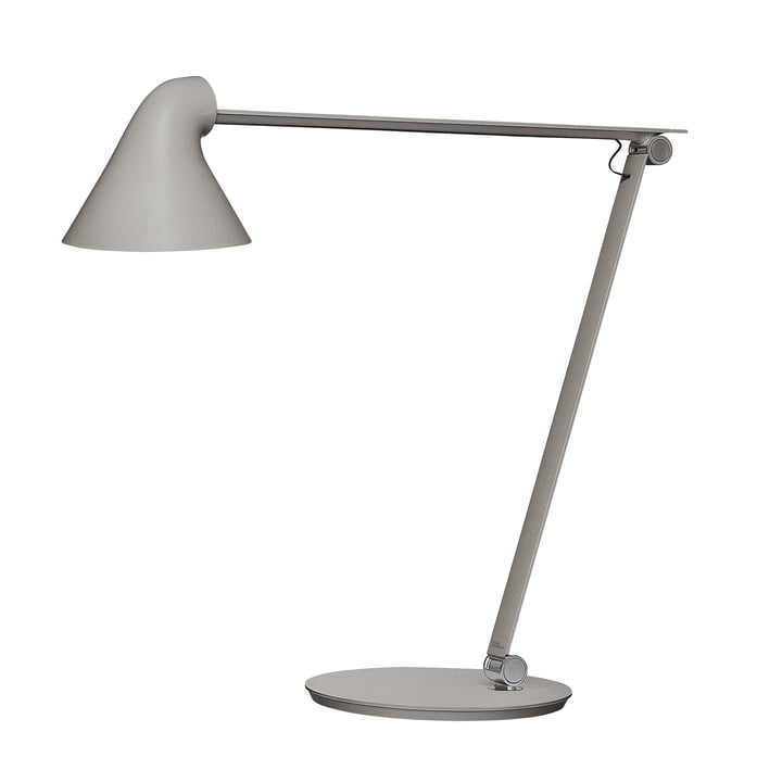 The Louis Poulsen - NJP table lamp with stand in light grey aluminium