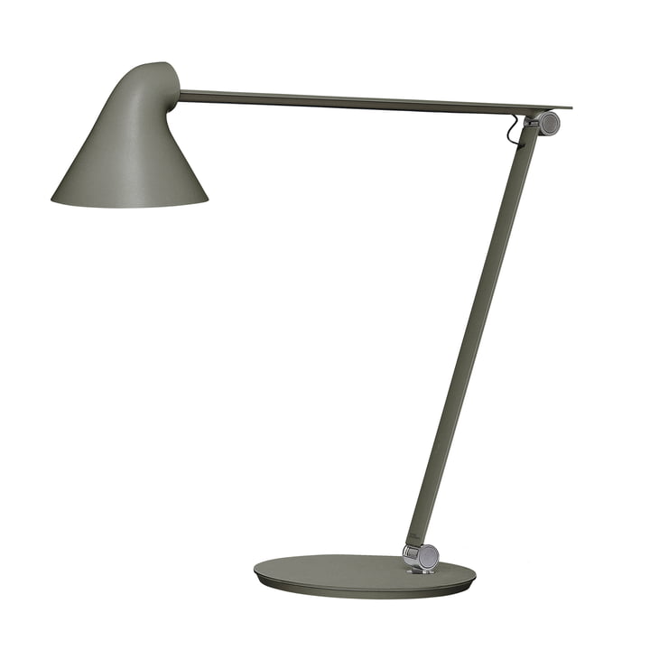 The Louis Poulsen - NJP table lamp with stand in dark grey aluminium