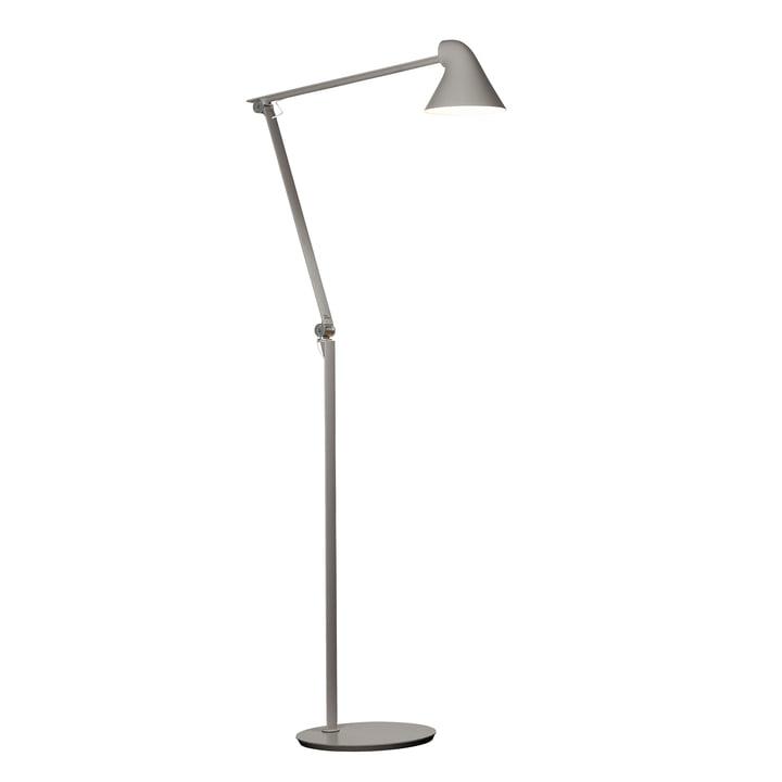 The Louis Poulsen - NJP LED floor lamp in light grey aluminium