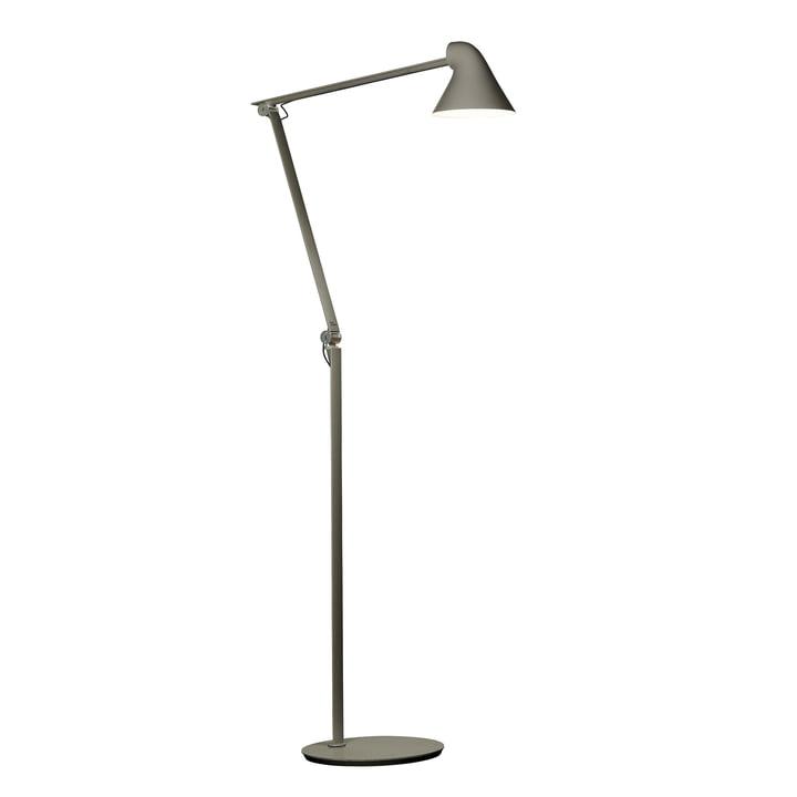 The Louis Poulsen - NJP LED floor lamp in dark grey aluminium