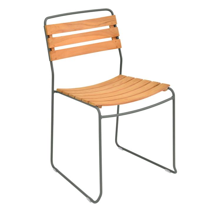 Fermob - Surprising Teck Chair, teak / rosemary