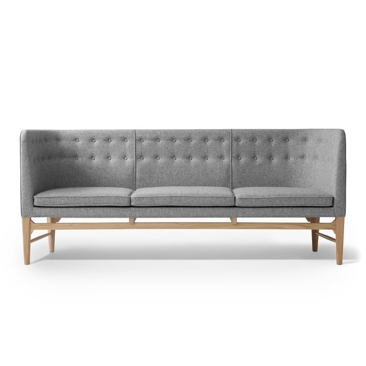 The & Tradition - Mayor 3 seater sofa AJ5, oiled white oak / Hallingdal 65 130 (130)