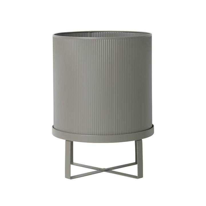 Bau Flower Pot Ø 28 x H 38 cm by ferm Living in Warm Grey