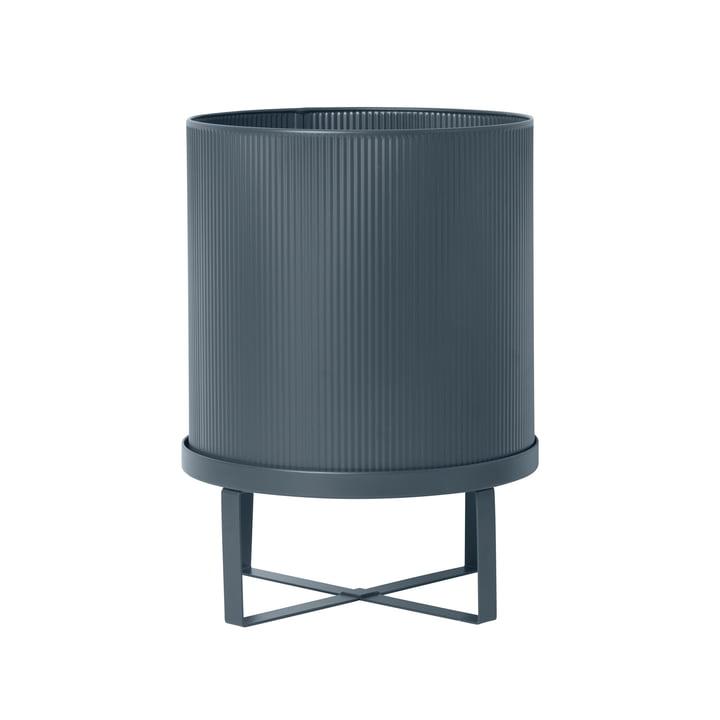Bau Flower Pot Ø 28 x H 38 cm by ferm Living in Dark Blue