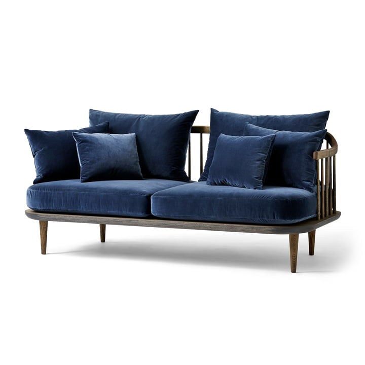 The & Tradition - FLY 2-seater sofa SC2, frame smoked oak / cover Harald 3 182