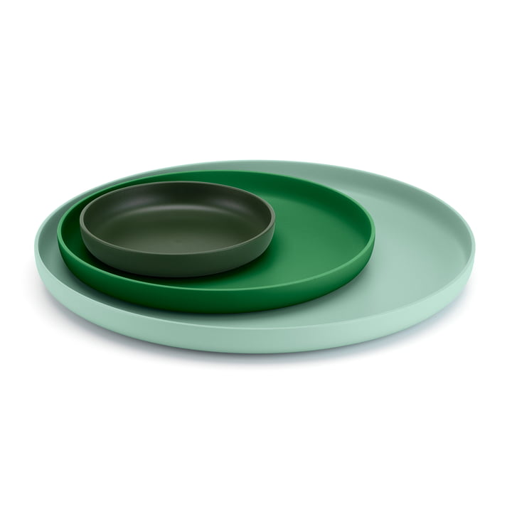 Vitra - Trays, green (Set of 3)