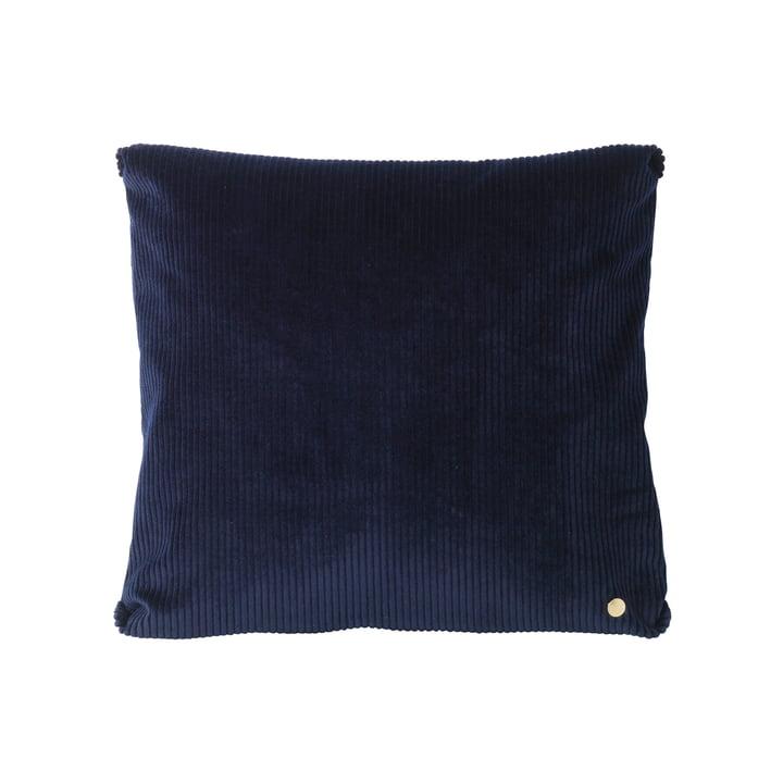 Corduroy Ccushion 45 x 45 cm by ferm Living in Navy Blue