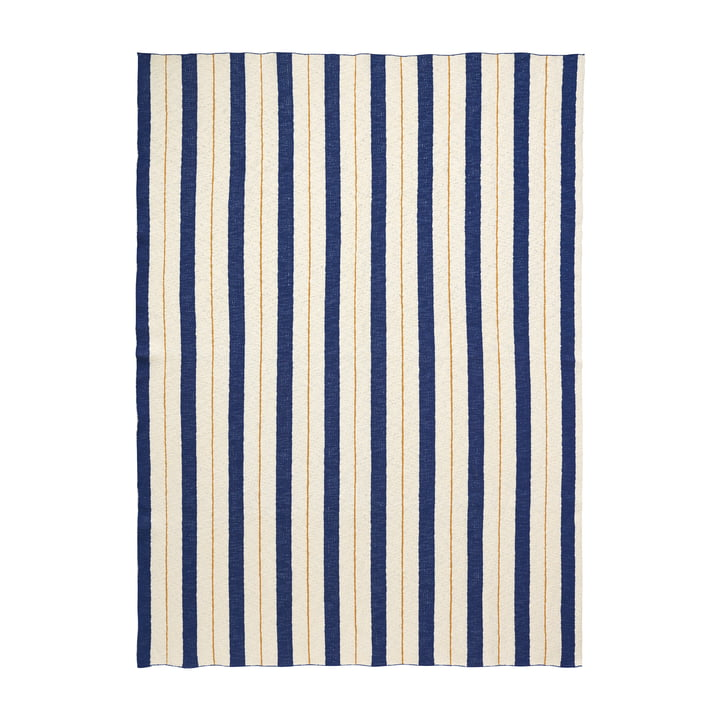 Pinstripe Blanket by ferm Living in Blue