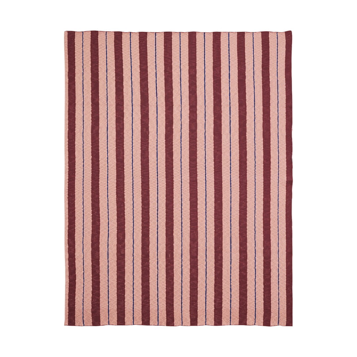 Pinstripe Blanket by ferm Living in Pink