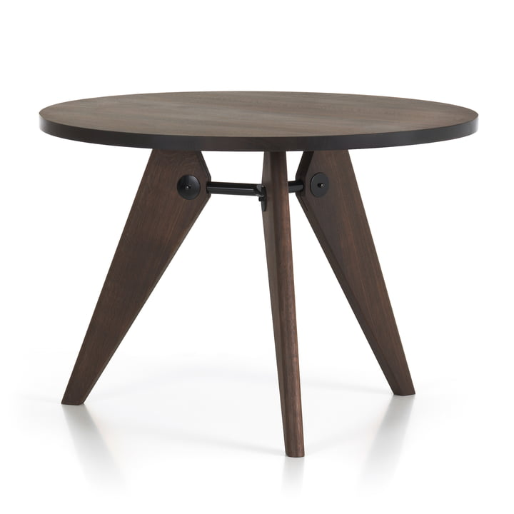 Vitra - Guéridon dining table, Ø 105 cm, smoked oak