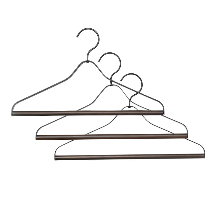 Coat hanger (set of 3) from ferm Living in black