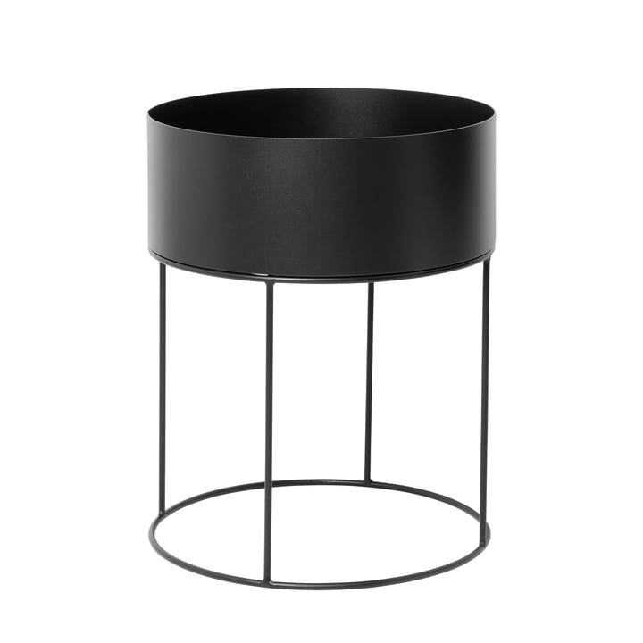 Plant Box round from ferm Living in black