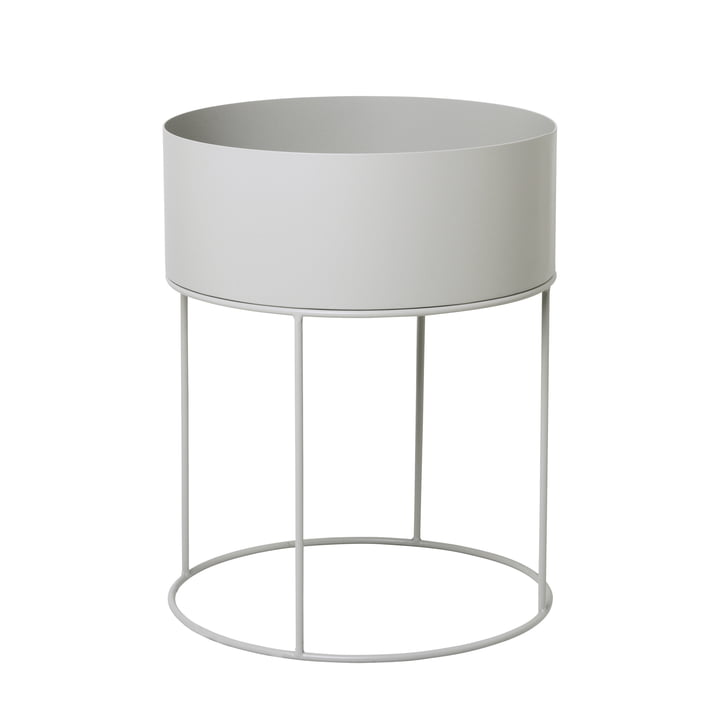 Plant Box round from ferm Living in light grey