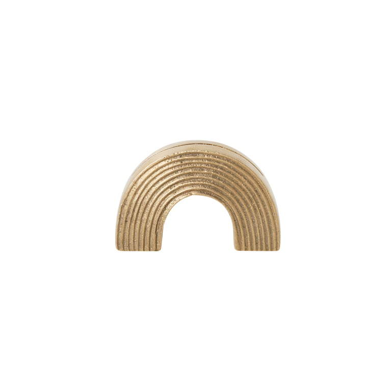 Arch Card Holder by ferm Living in Brass