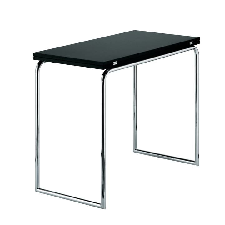 Thonet - B-109 Folding Table, Chrome / Jet Black (RAL 9005)