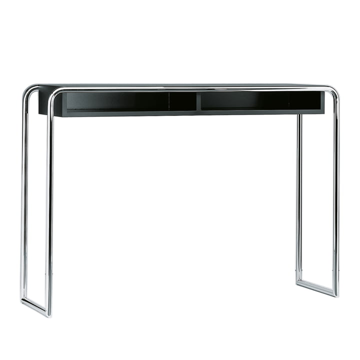 B 108 Console Table with Compartment by Thonet in Chrome / Jet Black (RAL 9005)