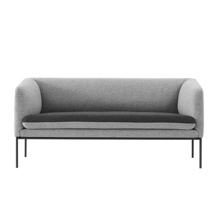 ferm living - Turn sofa (2 Seater), dark grey / light grey