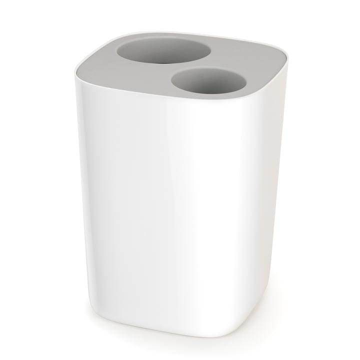 Split Bathroom Recycling Bin by Joseph Joseph in Grey